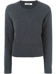 Jil Sander Crew Neck Sweater Grey