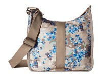 Le Sport Sac Weekender Hobo Flower Cluster Khaki Hobo Handbags Gray