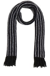 3.1 Phillip Lim Pinstripe Scarf In Blue Stripes Blue Stripes