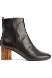 Tory Burch Madera Leather Ankle Boots Black