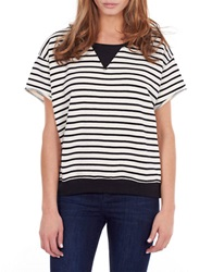 William Rast Striped Pullover Black