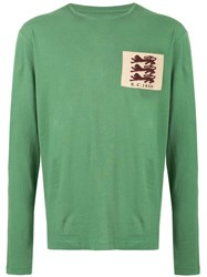 Kent And Curwen Embroidered Patch T Shirt Green