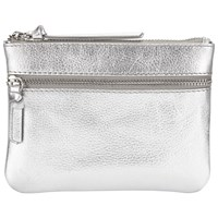 John Lewis Harriet Leather Coin Purse Silver