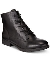 Style And Co. Qwinn Casual Lace Up Booties Only At Macy's Women's Shoes Black