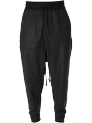 Lost And Found Drop Crotch Sweat Pants Grey