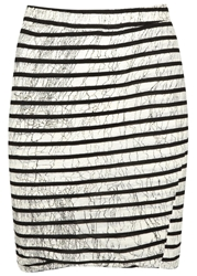 Pam And Gela Black Striped Jersey Mini Skirt