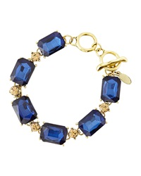 Greenbeads By Emily And Ashley Two Tone Crystal Station Bracelet Blue Taupe