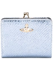 Vivienne Westwood Top Clasp Purse Women Leather One Size Blue