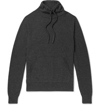 Mr P. Wool And Cashmere Blend Drawstring Mock Neck Sweater Gray
