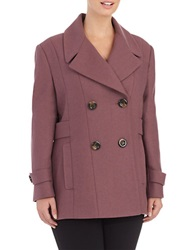 Kenneth Cole Reaction Double Breasted Peacoat Mauve