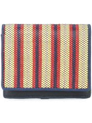 Diane Von Furstenberg Dvf Striped Purse Red