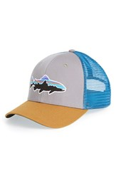 Men's Patagonia 'Fitz Roy Trout' Trucker Hat Grey Feather Grey