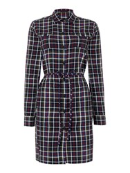 Gloverall Racing Check Dress Navy