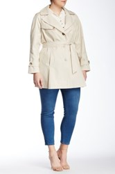 Dkny Belted Trench Plus Size Beige