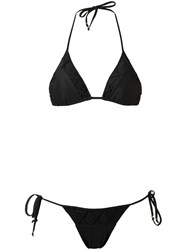 Amir Slama Triangle Bikini Set Black