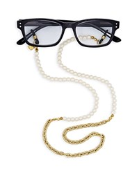 Corinne Mccormack Faux Pearl Glasses Chain 29 Gold