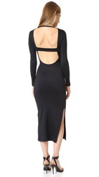 David Lerner Low Back Midi Dress Classic Black