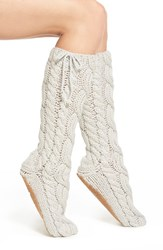Women's Lemon 'Arctic' Cable Knit Knee High Slippers