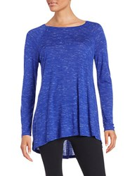 Calvin Klein Hi Lo Knit Top Purple Tension