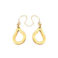 Alexander Betty Matte Teardrop Earrings 18K Gold Plated Brass