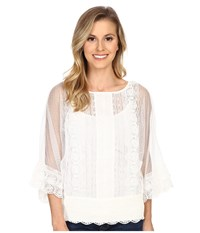 Ariat Pauline Top Snow White Women's Short Sleeve Pullover
