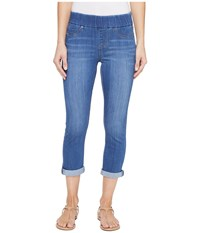 Liverpool Sienna Pull On Rolled Cuff Capris In Silky Soft Denim In Coronado Mid Coronado Mid Women's Jeans Blue