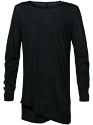 Forme D'expression Fine Gauge Twisted Pullover Black