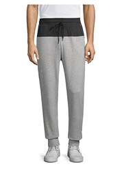 2Xist Mesh Panel Joggers Grey Heather