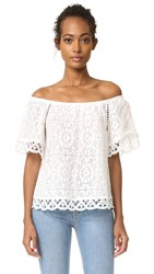 Bb Dakota Curren Lace Off The Shoulder Top Ivory