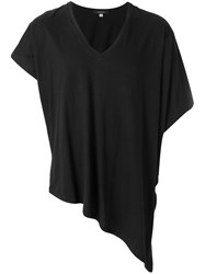 Unconditional Asymmetric V Neck T Shirt Black
