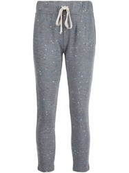 Current Elliott Paint Splatter Track Pants Grey