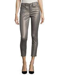 Calvin Klein Skinny Fit Cropped Pants Metallic