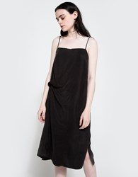 Objects Without Meaning Twist Lounge Dress Black