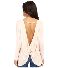 Culture Phit Brinley Long Sleeve Top With Open Back Pink Women's Clothing