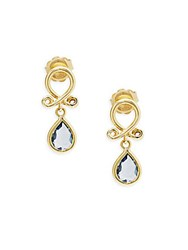 Temple St. Clair 18K Yellow Gold Loop Drop Earrings