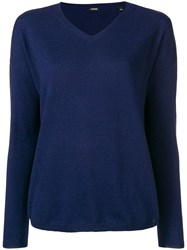 Aspesi V Neck Sweater Blue