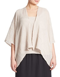 Alex Evenings Plus Textured Chiffon Twinset Champagne