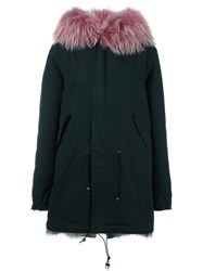 Mr And Mrs Italy Fur Lined Hooded Parka Green
