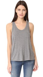 Alexander Wang T By Classic Tank With Pocket Heather Grey