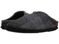 Bedroom Athletics William Harris Tweed Grey Blue Check Men's Slippers Gray