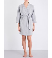 Calvin Klein Harmony Quilted Robe 020 Grey Heather