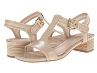 Rockport Total Motion 40Mm Block Heel T Strap Sandal Nude Snake Foil Women's Sandals Beige