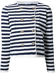 Sonia Rykiel Striped Fitted Jacket White