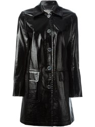 Michael Michael Kors Patent Raincoat Black