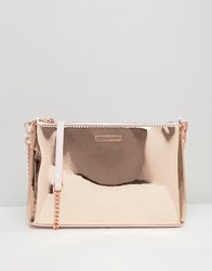 Ted Baker Rose Gold Cross Body Bag Rose Gold
