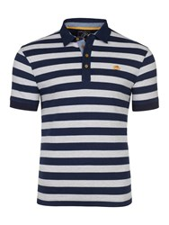 Raging Bull Men's Big And Tall Stripe Jersey Polo Navy