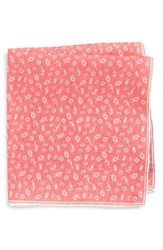 Southern Tide Maritime Skipjack Cotton And Silk Pocket Square Coral
