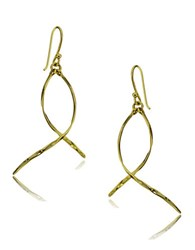 Lord And Taylor Goldtone Twist Drop Earrings