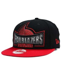 New Era Portland Trail Blazers Metallic Grader 9Fifty Snapback Cap Black Red