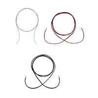 Intua Set Of 3 Suede Chokers With Silver Beadsblack Burgundy And Light Grey 1.5 M 4.9 Feet 14K Black Gold Plated